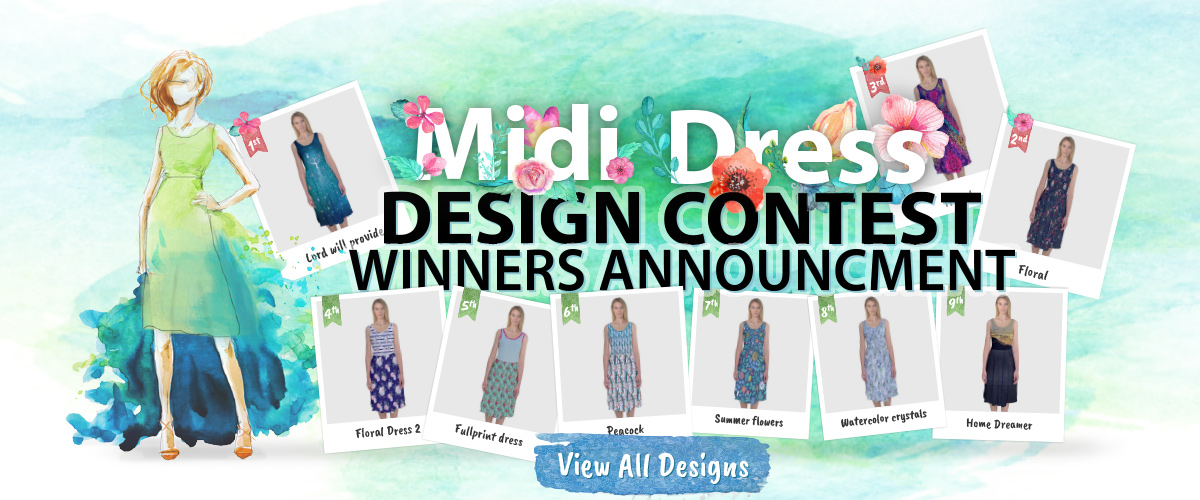Cowcow Midi Dress Design Contest Winners Announcement 2016